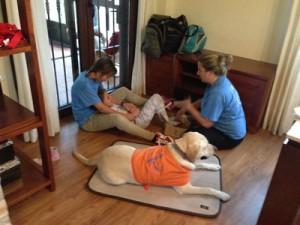 Cristina en terapia asistida con Dogma