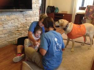 Terapia asistida con Cristina y Doga