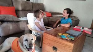 sesión de terapia con Cris y Dogma