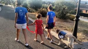 Entrenando la conducta de fuga con perro de TEA